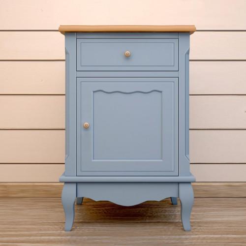 """Прикроватная тумба """"Leontina Blue"""" с ящиком и дверцей"""