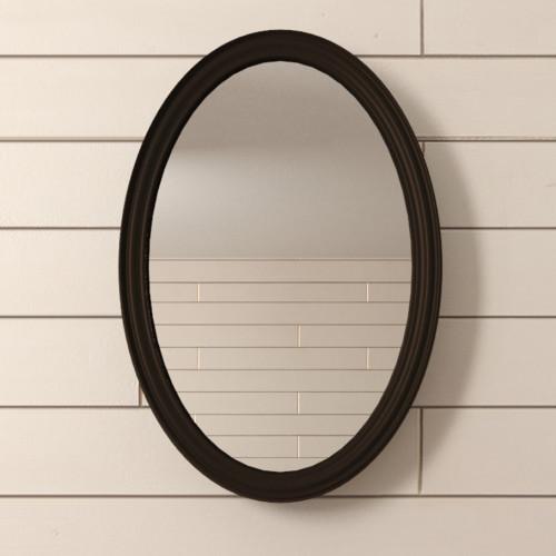 "Зеркало ""Leontina Black"" овальное"