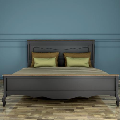 """Дизайнерская кровать """"Leontina Black"""" 180*200"""