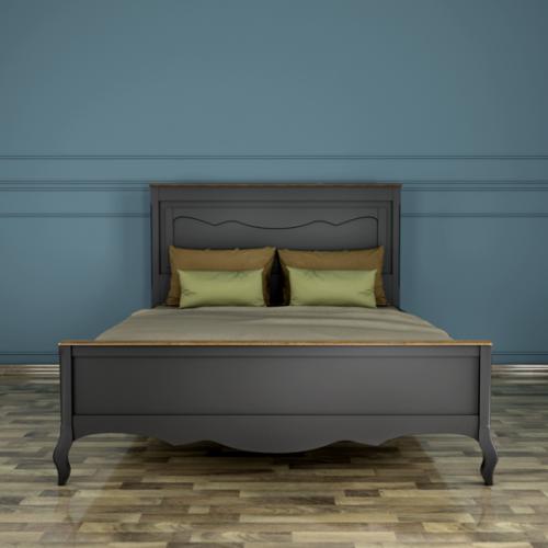 """Дизайнерская кровать """"Leontina Black"""" 160x200"""
