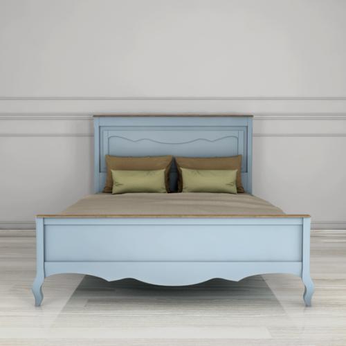 """Дизайнерская кровать """"Leontina Blue"""" 160x200"""