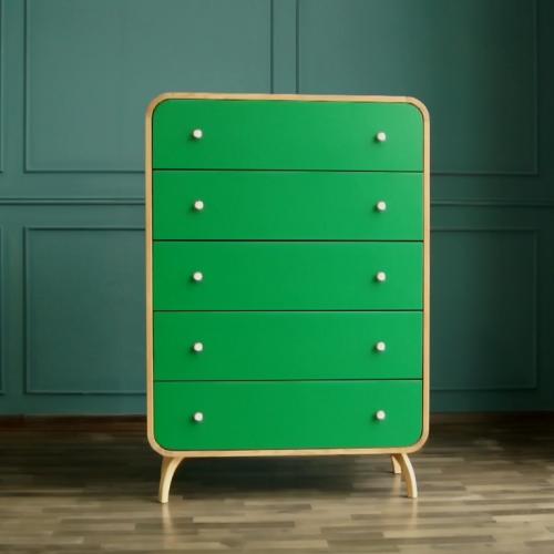 """Комод """"Ellipse"""" с пятью ящиками зеленые фасады"""