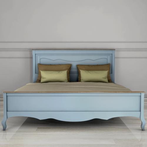 """Дизайнерская кровать """"Leontina Blue"""" 180*200"""